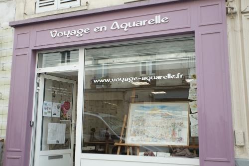 Vitrine Voyage en Aquarelle