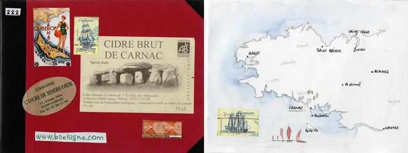 Carnet de voyage à Carnac. 1