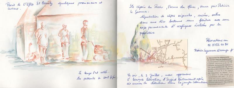 Carnet de voyage à Carnac. 9