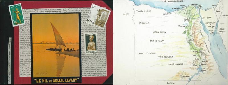 Carnet de voyage sur l'Egypte  1