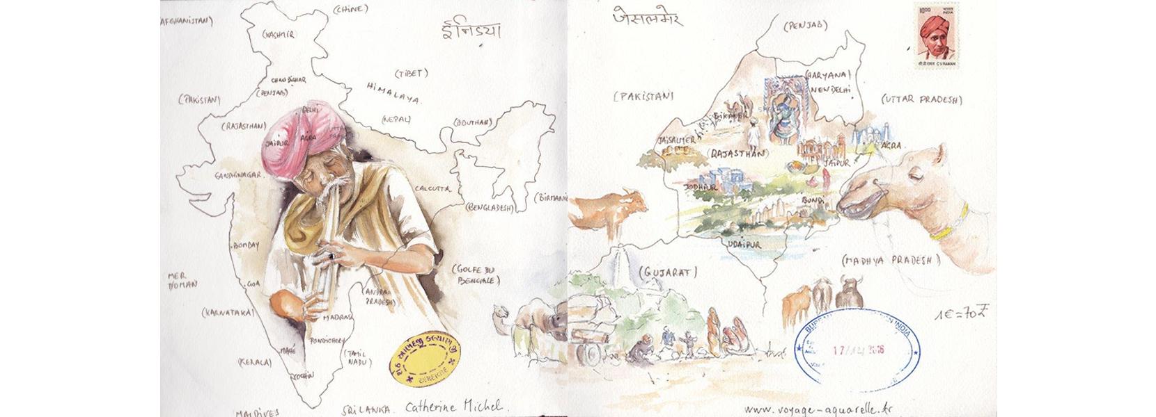 Carnet de voyage en Inde 1