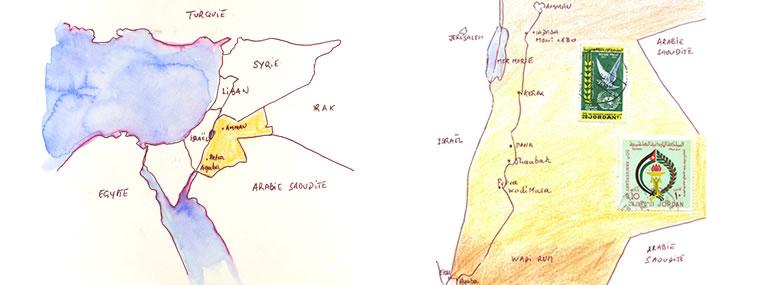 Carnet de voyage en Jordanie Voyage Aquarelle