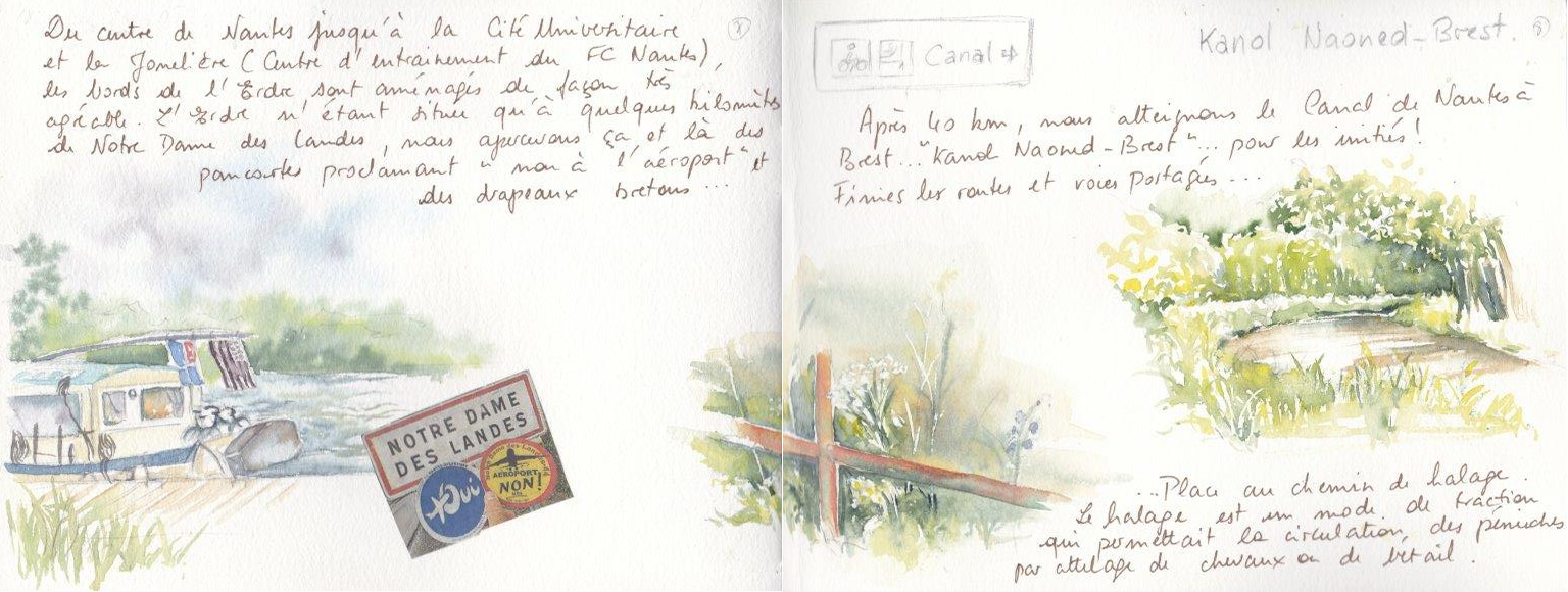 Carnet de voyage à vélo de Nantes à Carnac 4
