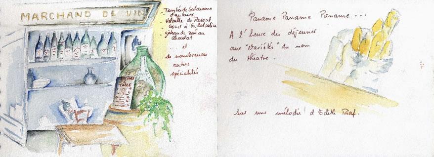 Carnet de croquis sur Paris 1