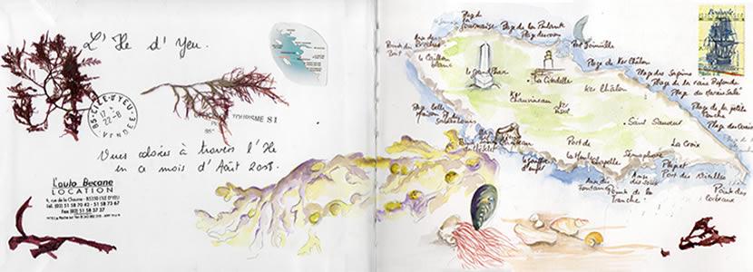 Carnet de voyage à l'ile d'Yeu 2