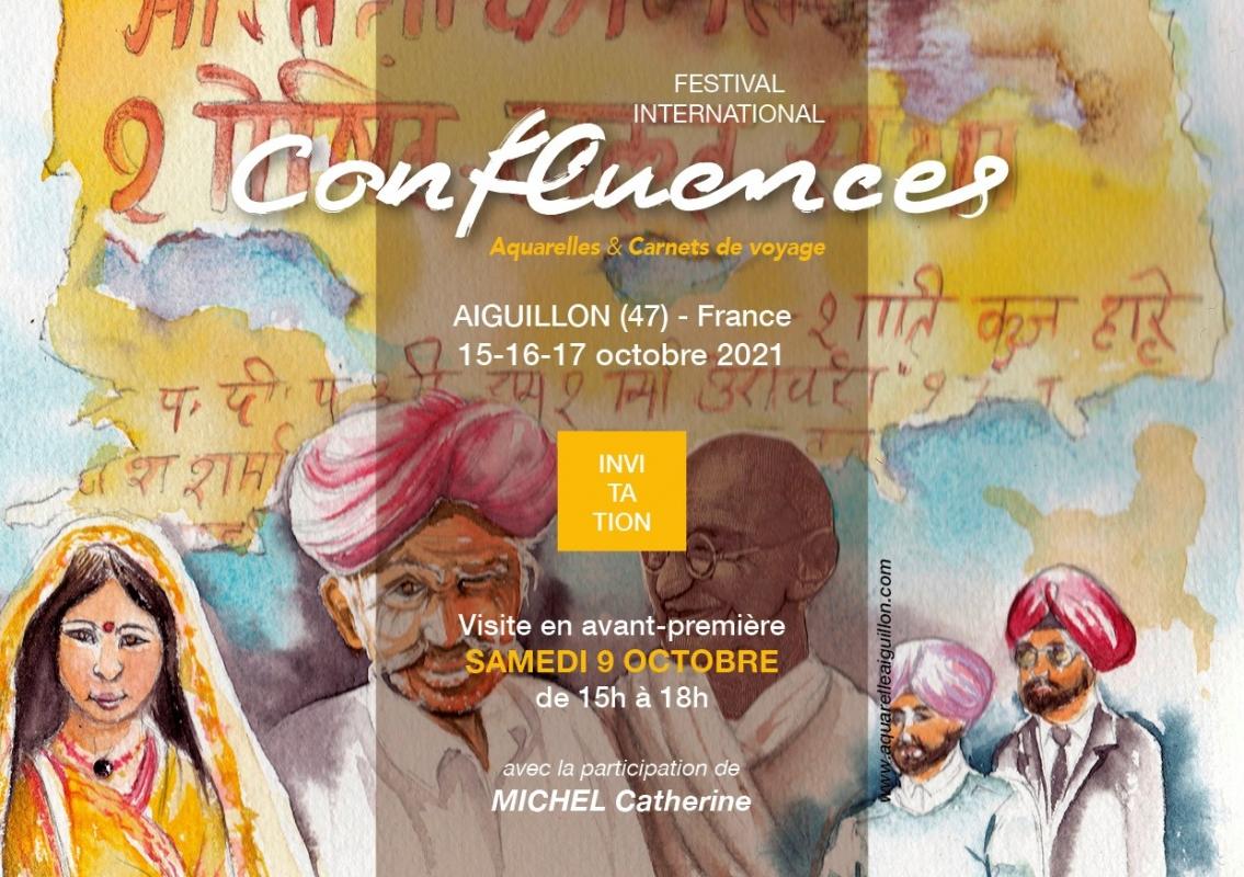 Festival International d'aquarelle et de Carnets de voyage, Confluences